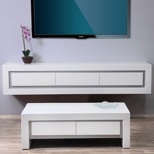 מערכת סלונית של שולחן ומזנון תלוי דגם:אבלון
