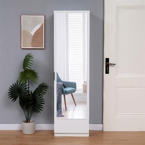 ארון נעליים בעל נפח אחסון ענק ודלת ראי עצומה יעל מבית HOMAX