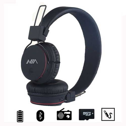 אוזניות מתקפלות המשלבות נגן MP3 מובנה ורדיו FM