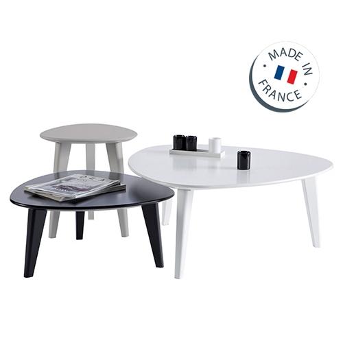 סט שולחנות לסלון בעיצוב מודרני תוצרת צרפת