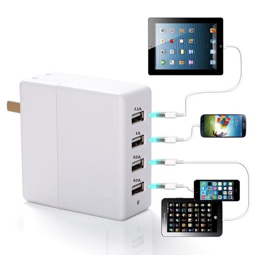 מטען 4 שקעים USB בהספק כולל עד 20.5W