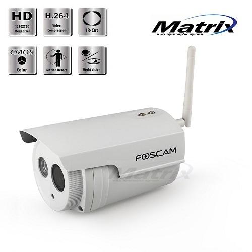 מצלמת אבטחה Foscam דגם FI9803P ברזולוצייה HD 720