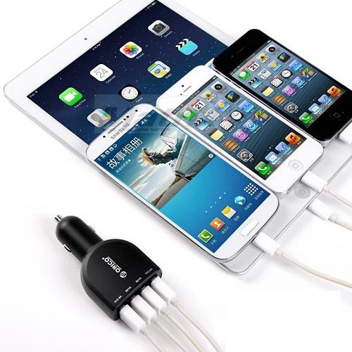 מטען לרכב עם 4 כניסות USB בעוצמה 6.8A 34W