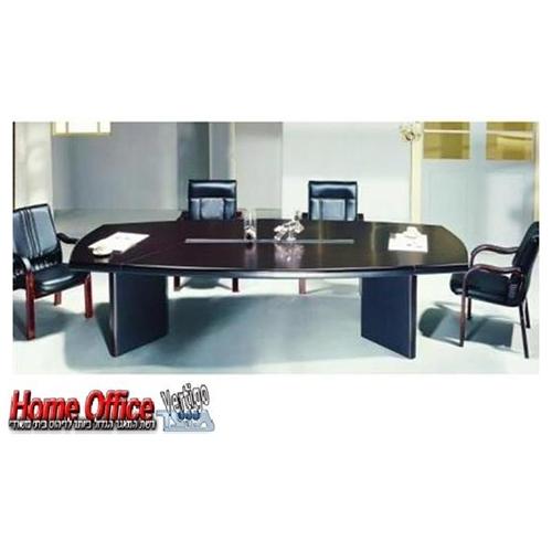 שולחן ישיבות במידות 240/120 השולחן בציפוי פורניר