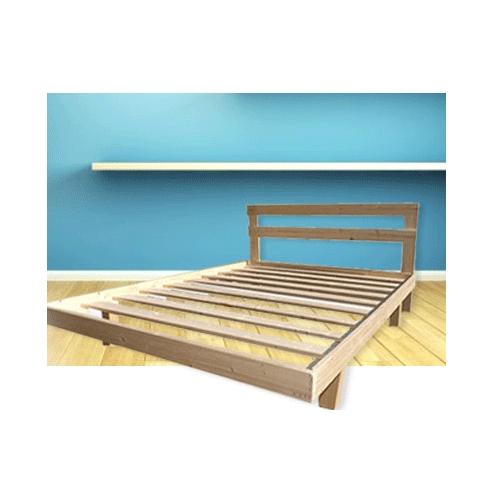 בסיס למיטה זוגית מעץ אורן מלא דגם 45520