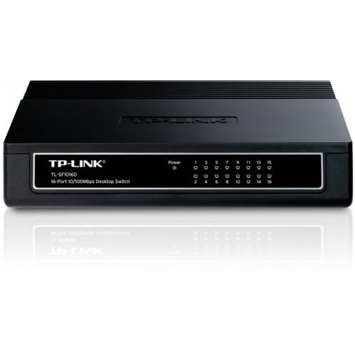 מתג מבית TP-Link בעל 16 יציאות במהירות 10/100Mbp
