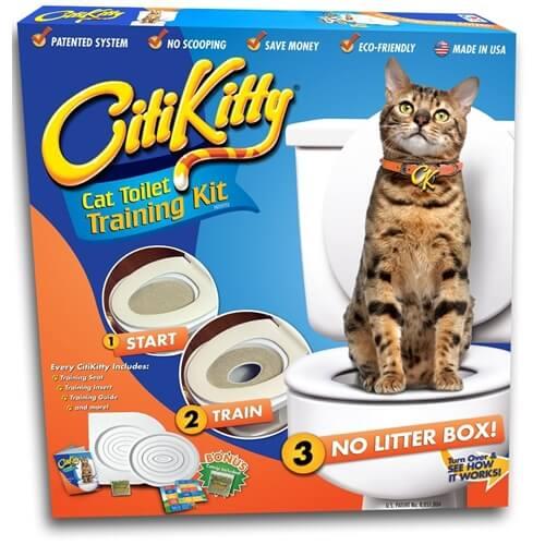 ערכת לימוד לחתול לעשיית צרכים בשירותים CitiKitty