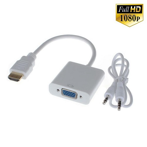 מתאם ממיר HDMI לחיבור VGA כולל אודיו