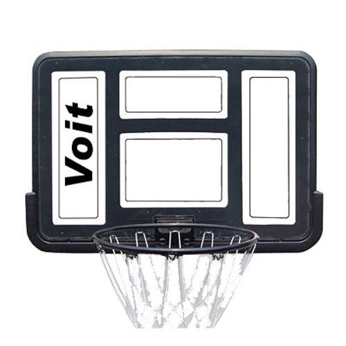 """לוח כדורסל וטבעת סל מסיבית בקוטר 45 ס""""מ"""