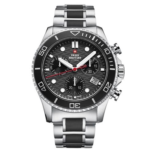 שעון יד כרונוגרף לגבר SWISS MILITARY תוצרת שוויץ