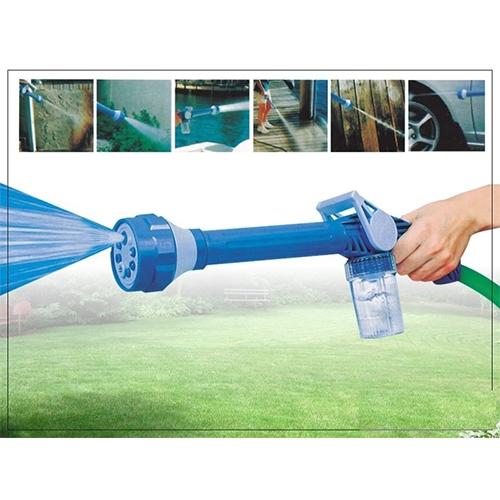 תותח מים סילוני בעל 8 יציאות שונות ומיכל סבון