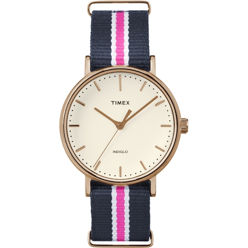 שעון יד UNISEX מבית TIMEX עם רצועת קנבאס
