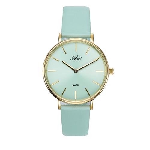 שעון יד לאישה מבית ADI עשוי פלדת אל חלד מוזהבת