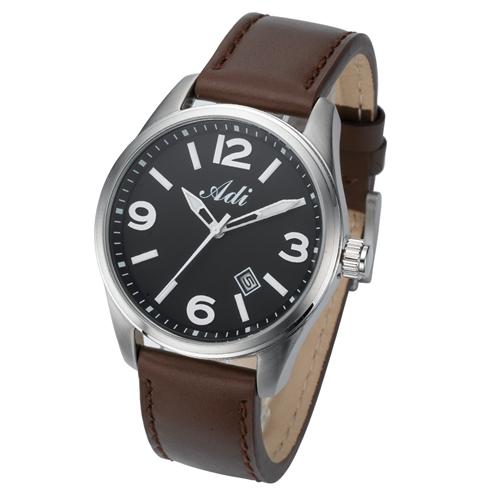 שעון יד לגבר מבית ADI פלדת אל חלד ותצוגת תאריך