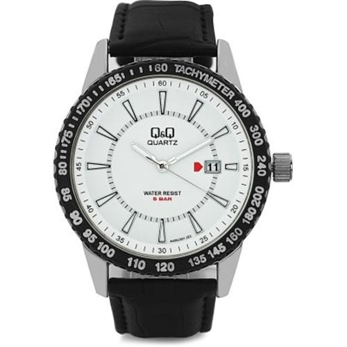שעון יד Q&Q לגבר עם מחוגים ושנתות זוהרות