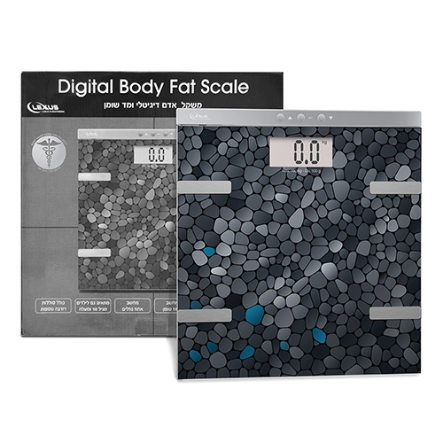 משקל אדם דיגיטלי ומד שומן דגם LSC-185 BMI