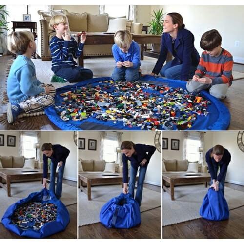 משטח פעילות לילדים שהופך לשק איסוף