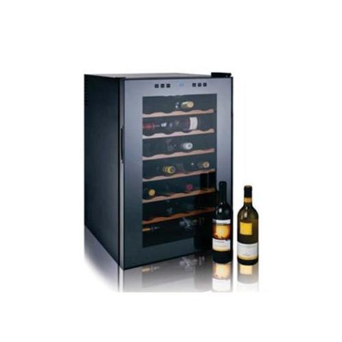 מקרר יין 28 בקבוקים מדפי עץ דגם Bcw70W LANDERS
