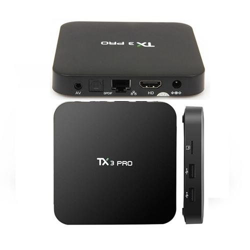 קופסת טלוויזיה חכמה TX3 PRO תומך רזולוציה 4K