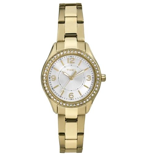 שעון יד מעוצב לאישה TIMEX - משובץ אבני סברובסקי