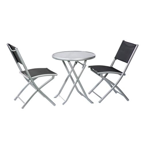 שולחן עם 2 כסאות מתקפלים דגם בולוניה