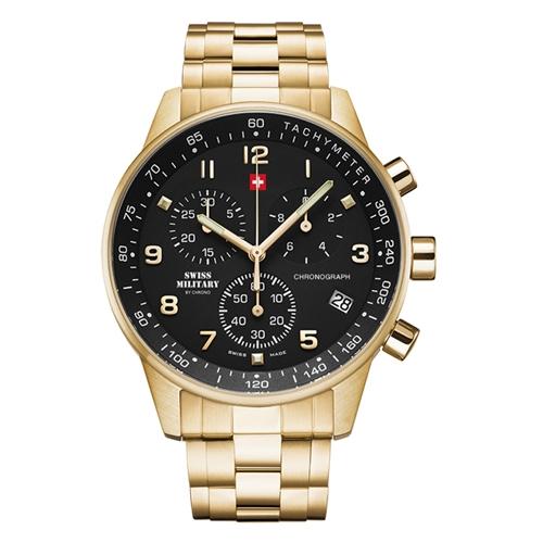 שעון כרונוגרף לגבר SWISS MILITARY דגם SM3401212