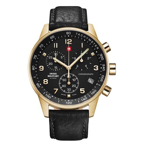 שעון כרונוגרף לגבר SWISS MILITARY דגם SM3401210