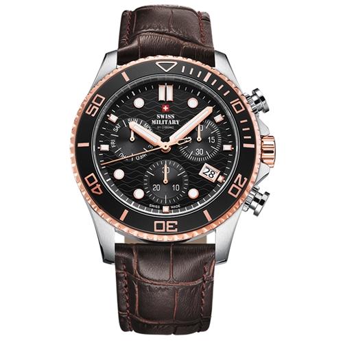 שעון כרונוגרף לגבר SWISS MILITARY דגם SM3405105
