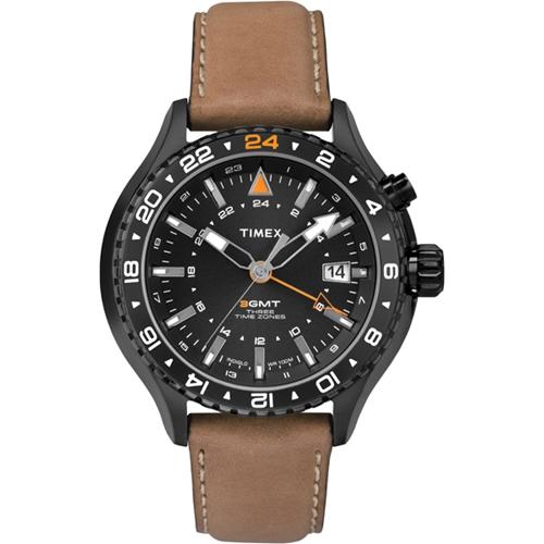 שעון יד לגבר TIMEX עם מנגנון 3 GMT