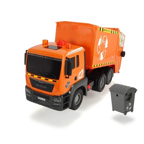 משאית אשפה ענקית כתומה מבית Dickie Toys