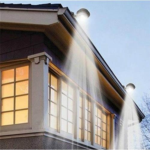 זוג תאורות גדר סולאריים