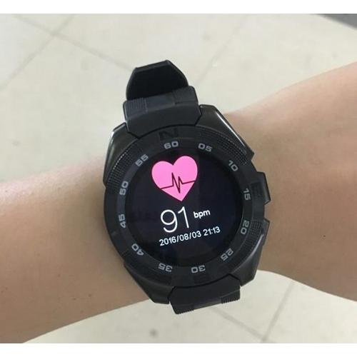שעון חכם עגול ויוקרתי עם מד דופק תומך WhatsApp