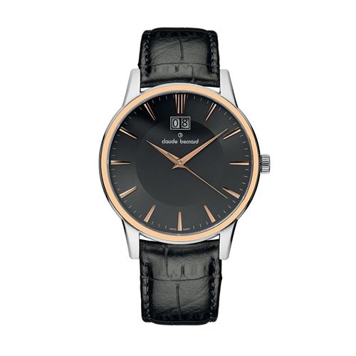 שעון יד שוויצרי לגבר מבית CLAUDE BERNARD