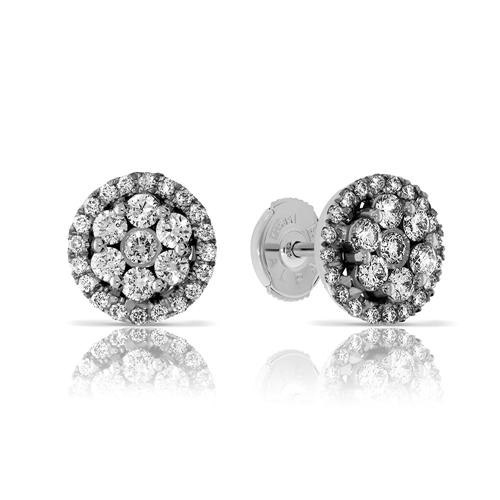 עגילי יהלומים 14K