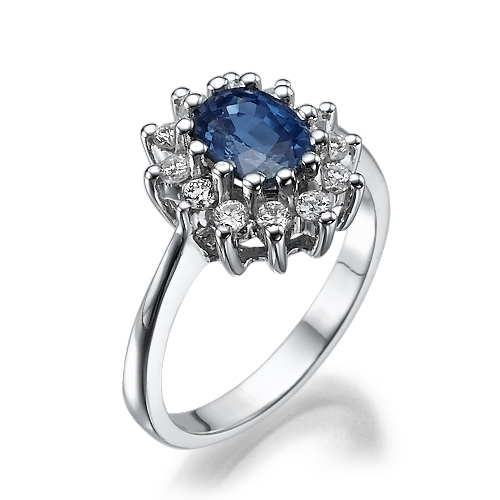 "טבעת ""הנסיכה דיאנה"" 14 קראט"