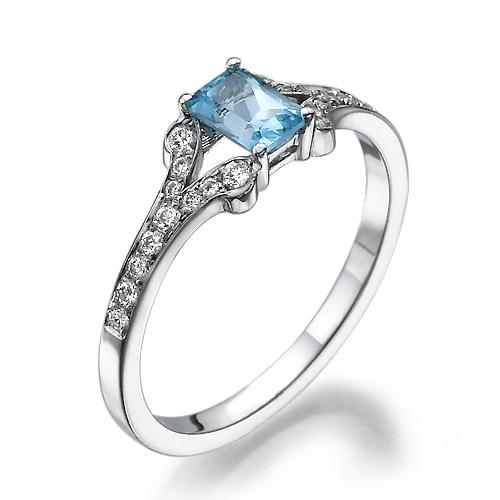 טבעת זהב 14 קראט משובצת יהלומים