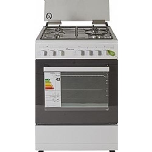 תנור בישול משולב כיריים גז תא אפיה 58 ליטר
