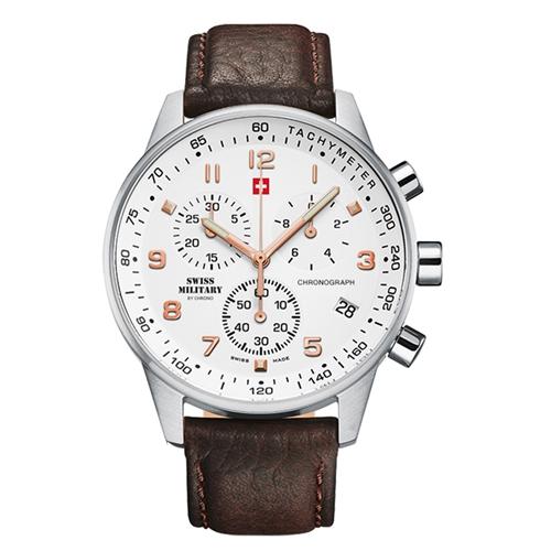 שעון יד כרונוגרף SWISS MILITARY