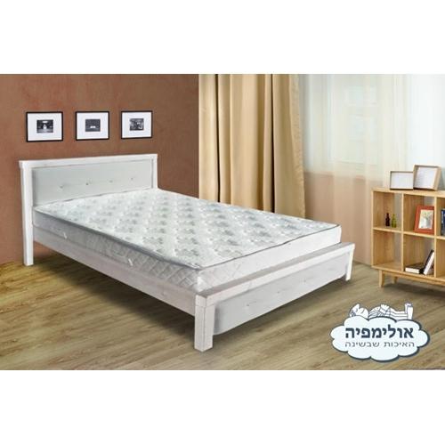 מיטה זוגית מעץ מלא גושני דגם נויה