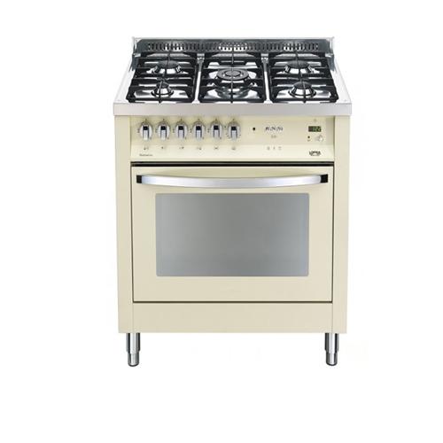 """תנור משולב כיריים גז  5 להבות רחב 70 ס""""מ"""
