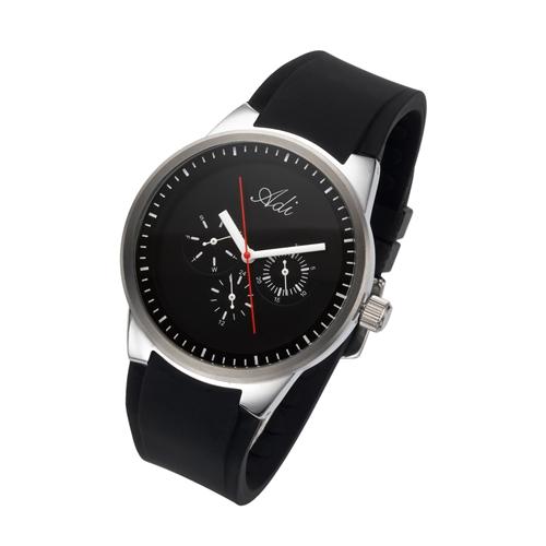 שעון יד לגבר מבית שעוני עדי עם רצועת סיליקון