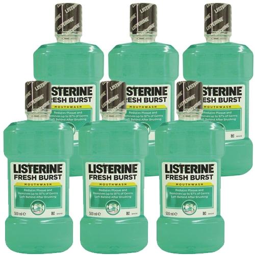 מארז חסכוני 6 בקבוקים של מי פה ליסטרין Fresh Burst