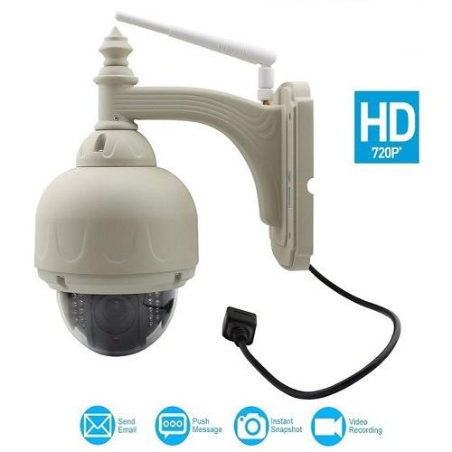 מצלמת אבטחה חיצונית ממונעת IP אלחוטית 720P HD
