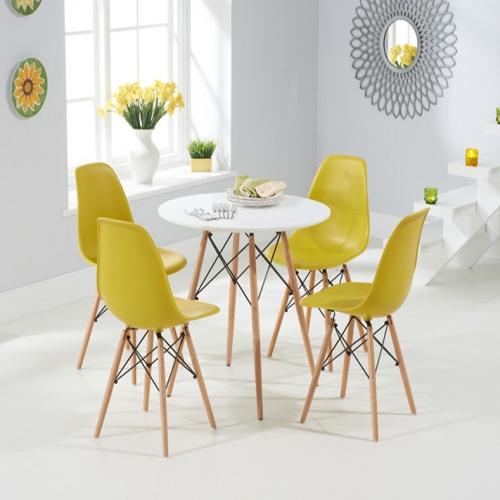 שולחן לפינת אוכל עגולה מעץ במבחר גדלים