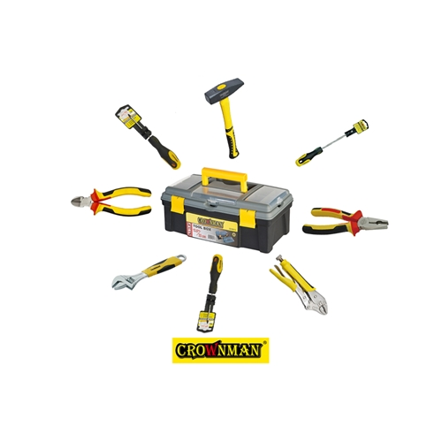 ארגז כלים+כלי עבודה מגוונים ואיכותיים CROWNMAN