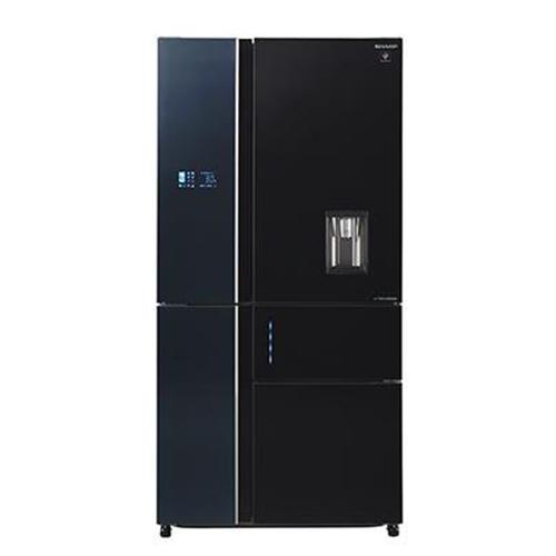 מקרר 5 דלתות 651 ליטר NO FROST זכוכית שחורה + בר