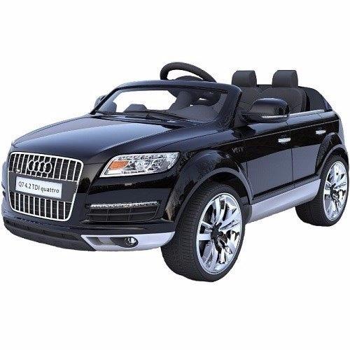 רכב ממונע AUDI 12V מקורי עם גלגלי גומי