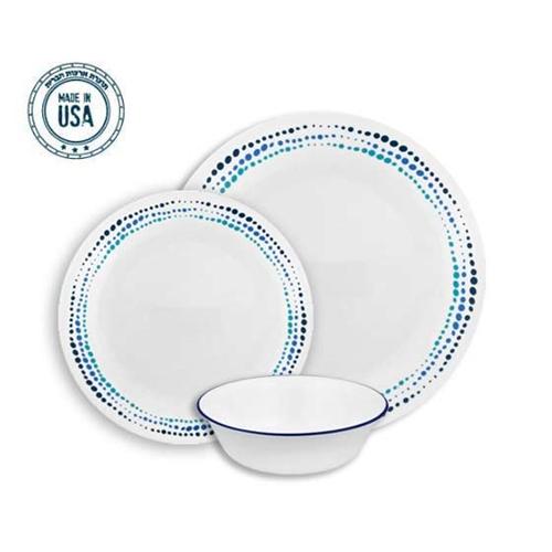 סט צלחות 18 חלקים ל-6 סועדים קורנינג Livingware