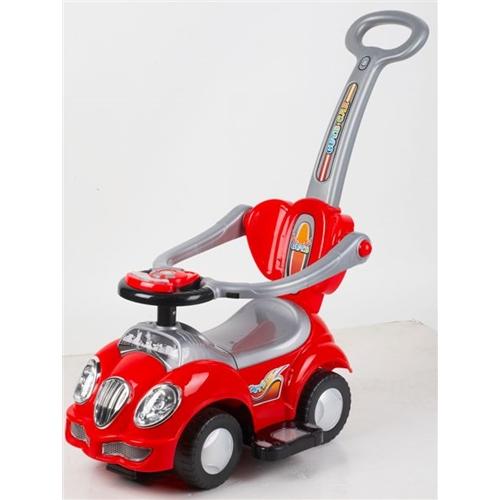 בימבה מכונית אדומה עם ידית ארוכה PLANERO TOYS