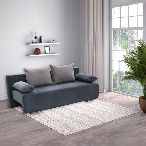 ספה מעוצבת נפתחת למיטה זוגית עם ארגז מצעים